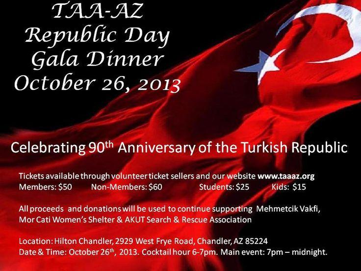 Arizona Türk Amerikan Derneği Cumhuriyet Gala Yemeği 6:00PM - 12:00AM - Hilton Chandler