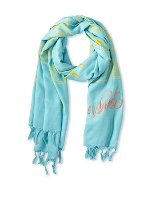 66% OFF Sir Alistair Rai Women's Surya Mantra Vibrant Scarf, Azure