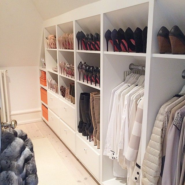Master Closet-Idea for building closet in room with sloped ceilings
