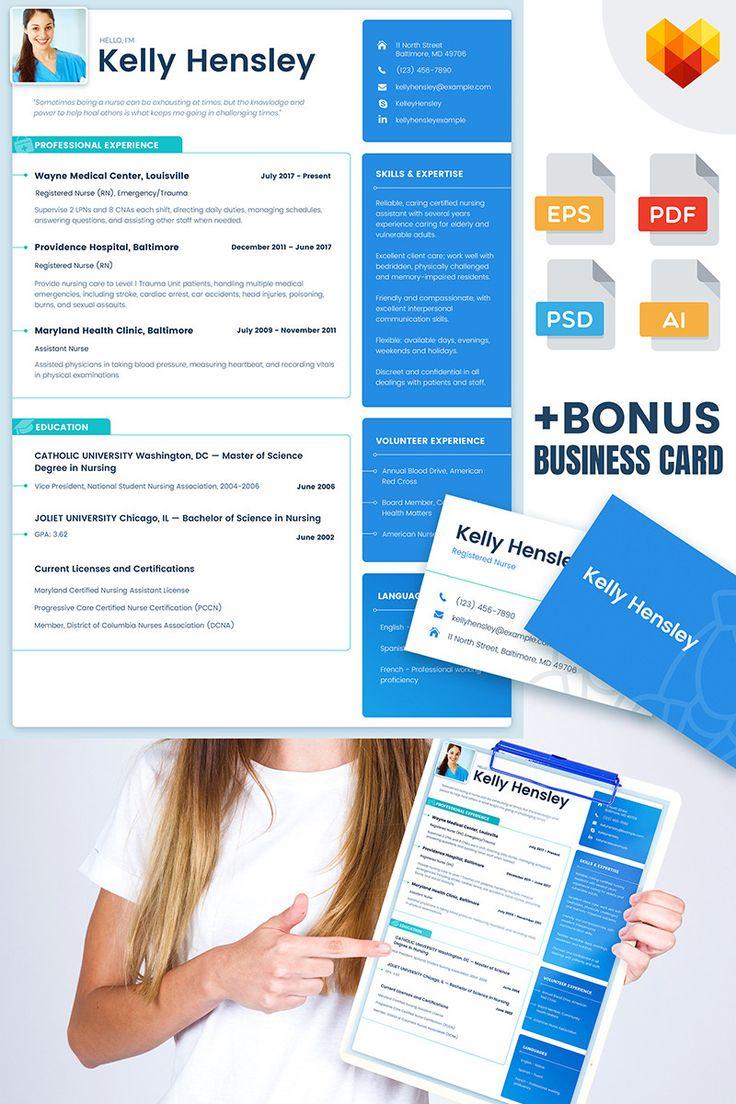 Registered Nurse Resume #resume https://www.motocms.com/cv-builder/