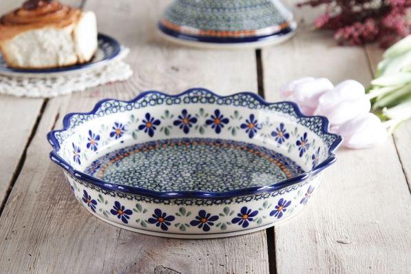 Forma do pieczenia tarty ceramiczna GU-1765 DEK. DU60 BOLESŁAWIEC 24,5 cm