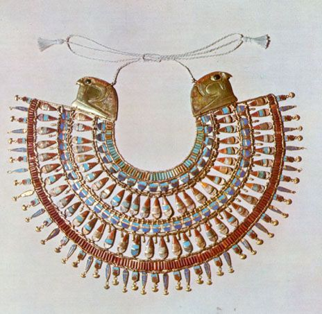 egyptian collar with hawks