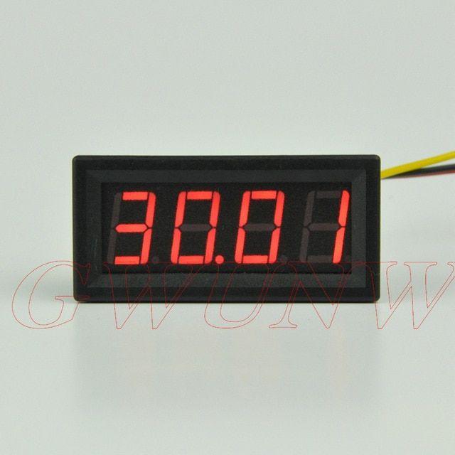 """30V 0.56"""" DC 0-30.00V 4 bit digital voltmeter LED Panel Meter Voltage Tester"""