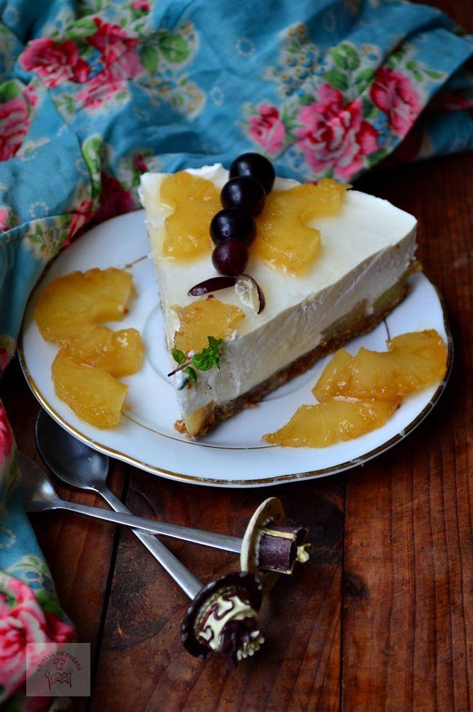 Cheesecake cu ananas