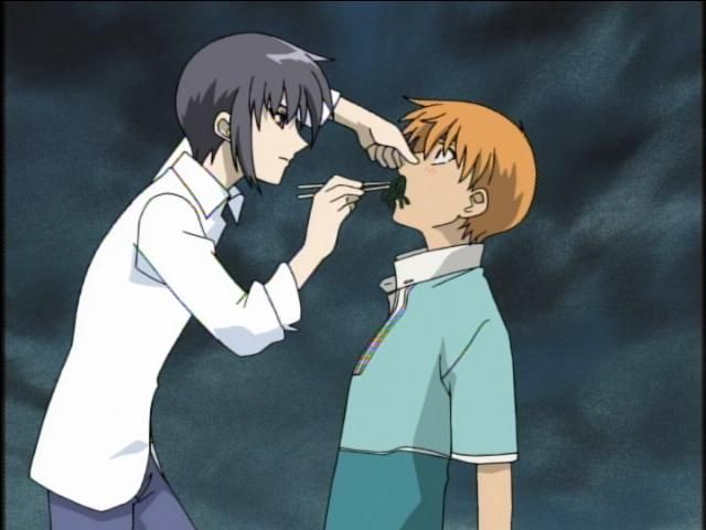 Fruits Basket Kyo And Yuki Fighting 17 Best images about F...