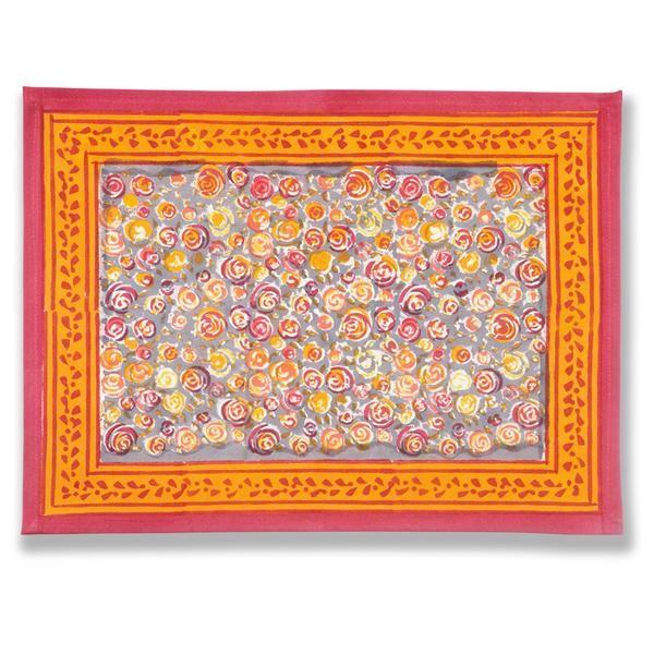 Autumn Bouquet Orange/Grey Placemats, Set of 6