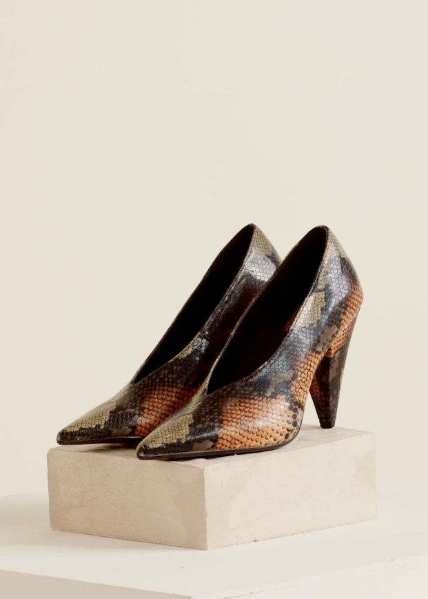 3af0e1970b7 Snakeskin print heeled shoes - Women | Shoes | Shoes, Shoes heels, Heels