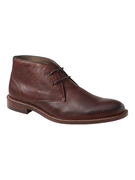 Banana Republic Mens Norman Leather Chukka Boot Chocolate Brown