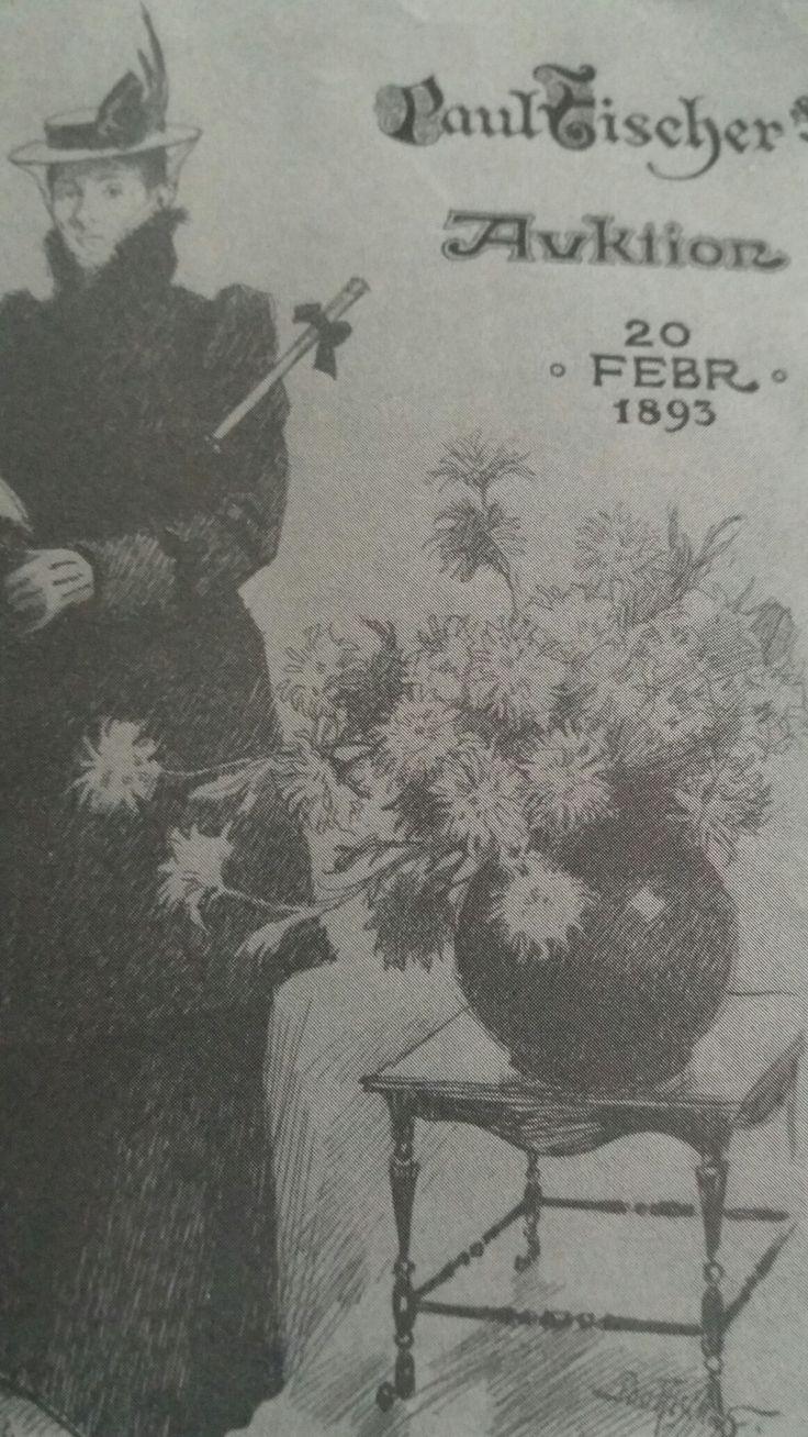 Forside til auktionskatalog 1893