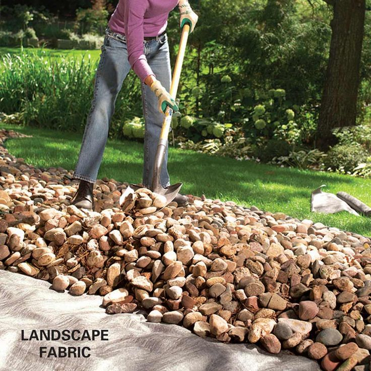 how to make a rock garden stopping weeds