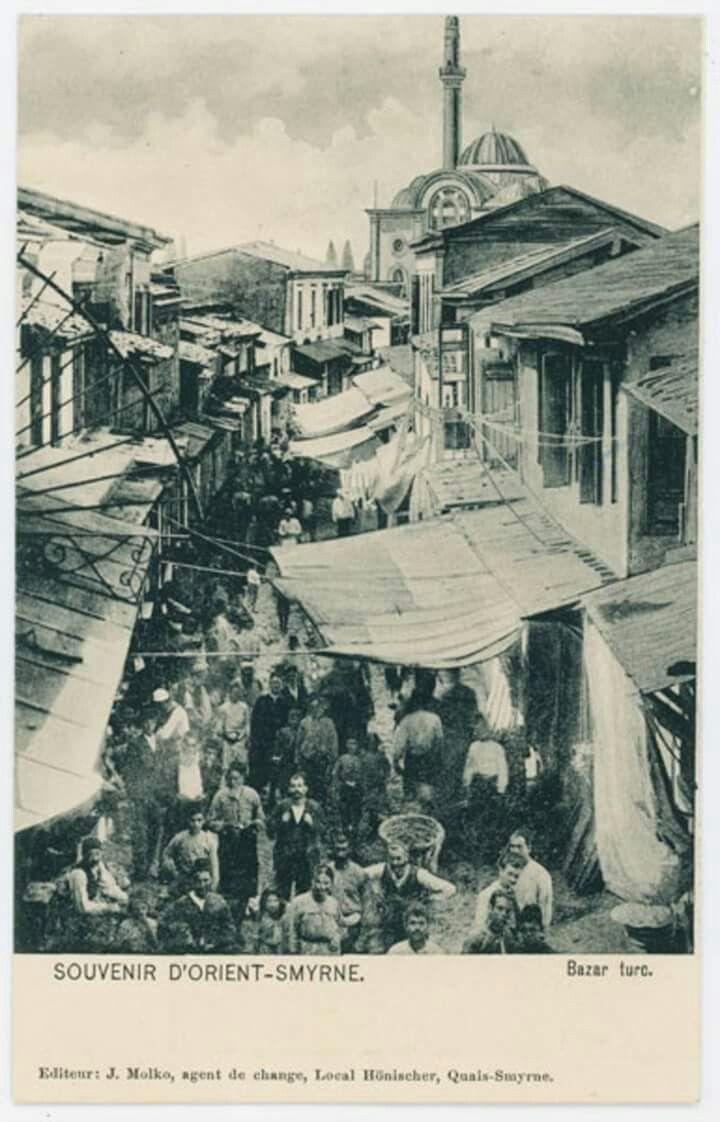 Havra Sokağı, 1900'lü yılların başları. Karşıda Kestane Pazarı Camii.