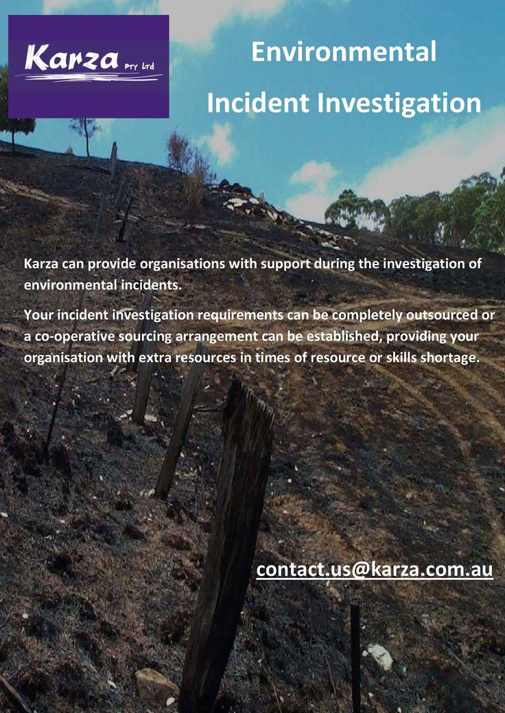 Karza provides environmental incident investigation