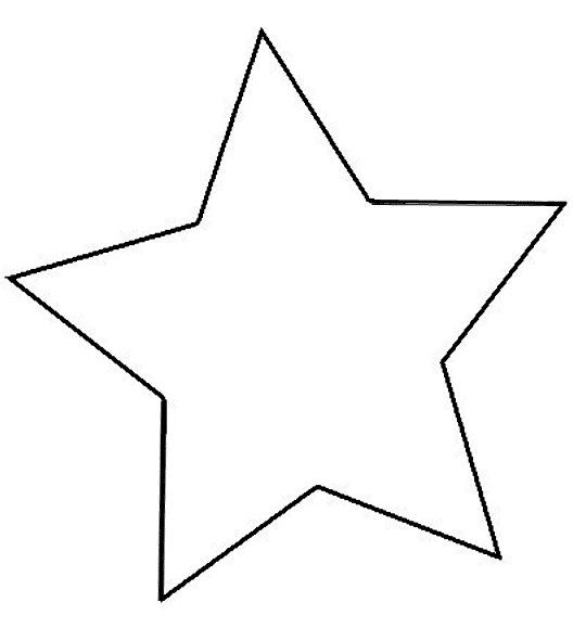 Imagenes de estrellas para colorear grandes   Imagui | manualidades
