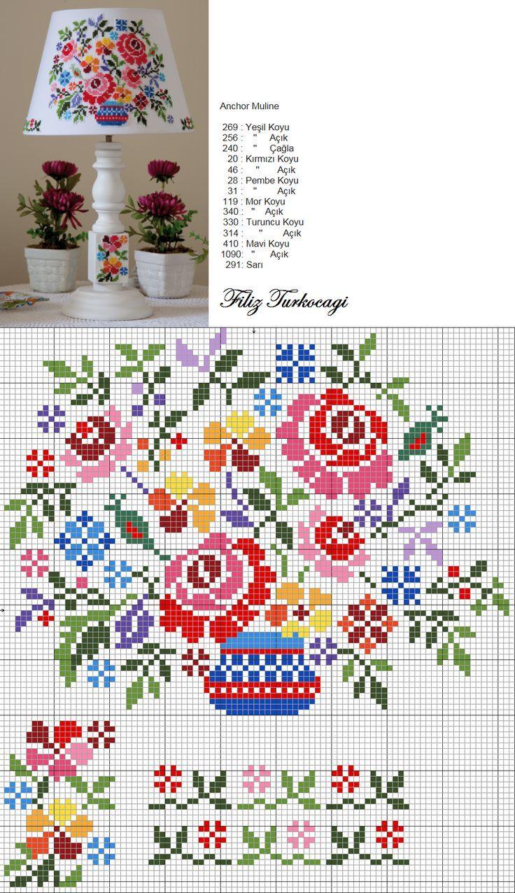 Ponto Cruz Padrões. / Cross Stitch Patterns.                                                                                                                                                      Mais