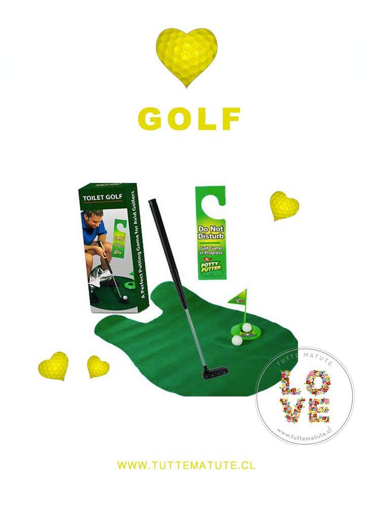 PARA LOS AMANTES DEL GOLF  ¿Eres un golf Lover?    ¡Perfecciona tu estilo y técnica mientras estás en el baño!  #TutteMatute #Golf #Regalos  http://www.tuttematute.cl/golf-de-bano