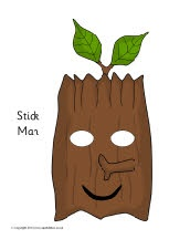 Stick Man role-play masks (SB9170) - SparkleBox
