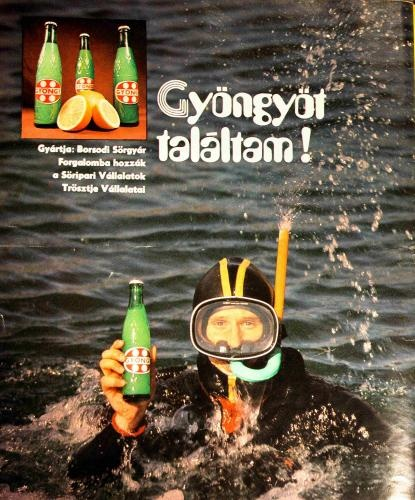 Gyöngy retro poster