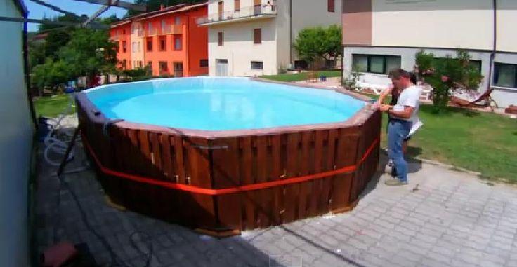 1000 ideias sobre cerca de pallet no pinterest cerca - Como construir piscina ...
