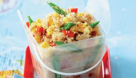 A great way to use up any leftover rice and vegetables that you might have - don'�t worry if it isn�'t jasmine rice!