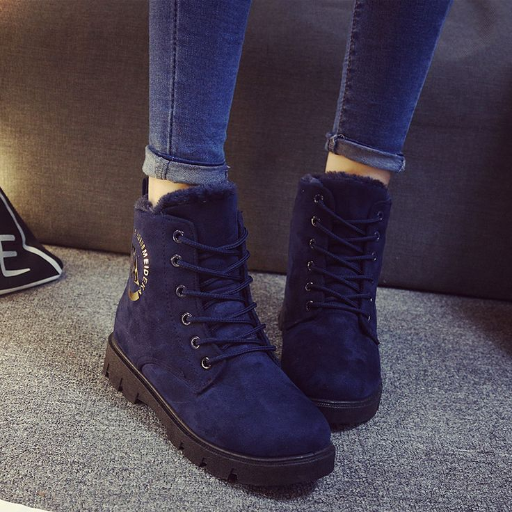 Купить товарНовый женщины , босоножки , с низким трубки водонепроницаемые зимние сапоги ботинки зимние сапоги 2015 мода теплая ботинки женские сапоги обувь в категории Сапоги и ботинкина AliExpress.              Women Winter Boots Fashion Women Boots Botas Mujer Fur Snow Boots Women Ankle Boots Flat Heels Winter Shoes
