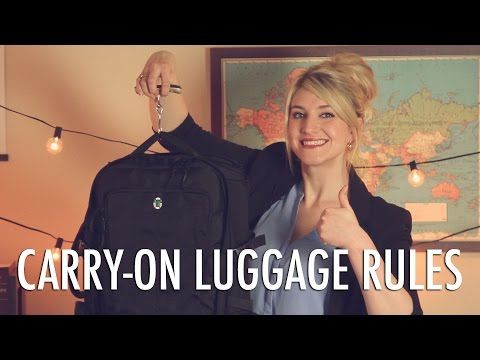 The Carry On Luggage Rules to Live By