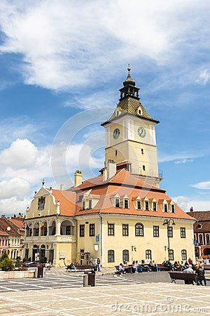 The Council House in the main city square of Brasov, Romania