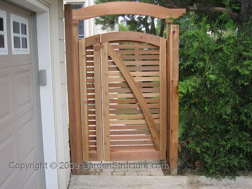 Gate Design built from Western Red Cedar