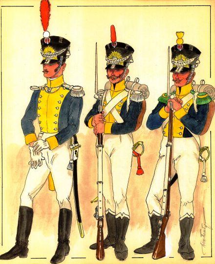Uniformes Vistule Légion 50eme rgt off et grenadier et carabinier