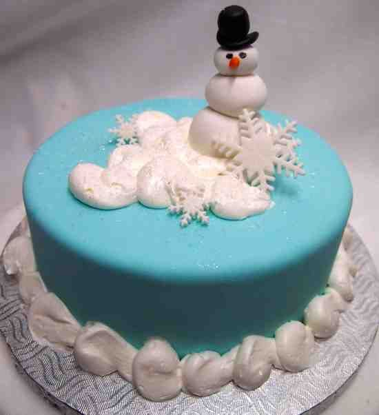 Funny Snowman Cake