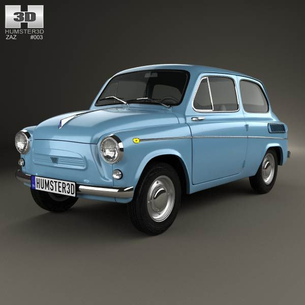 ZAZ 965A Zaporozhets 1962 3d model from humster3d.com. Price: $75