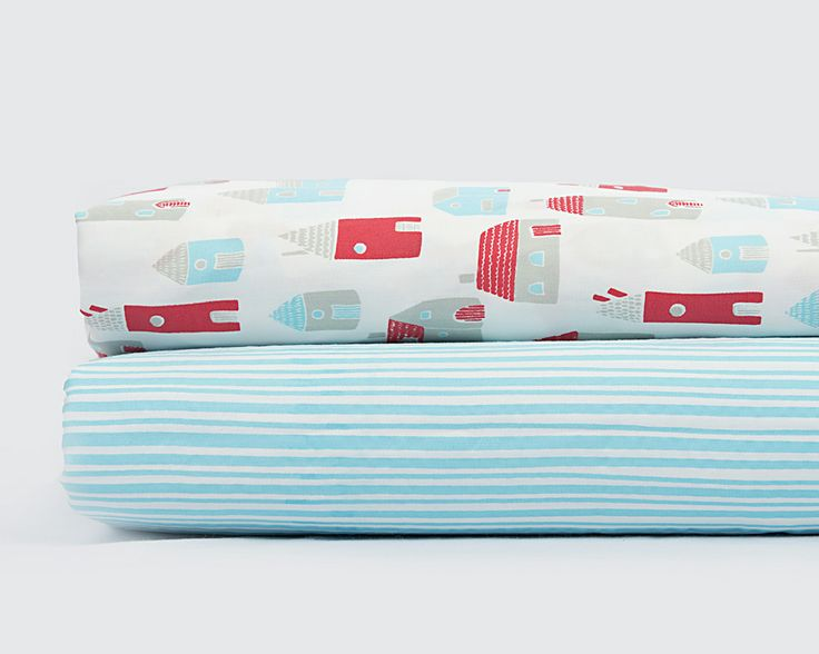 Our gorgeous Village Fitted Sheet Set will help make any nursery stylish. With one sheet in our chic Village design and one in the Ticking Stripe design, this set of fitted sheets will fit a standard or Boori cot. Our specially designed spotty drawstring bag will also help you carry all the things that your little cutie-pie needs.  http://www.wholesalebaby.com.au/Product-fitted-cot-sheet-set-village-1176.aspx