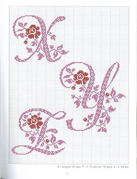Gallery.ru / Фото #47 - belles lettres au point de croix - moimeme1