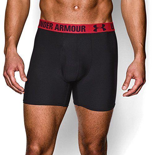 "Under Armour UA HeatGear Performance 6"" Boxerjock 2-Pack XL Black"
