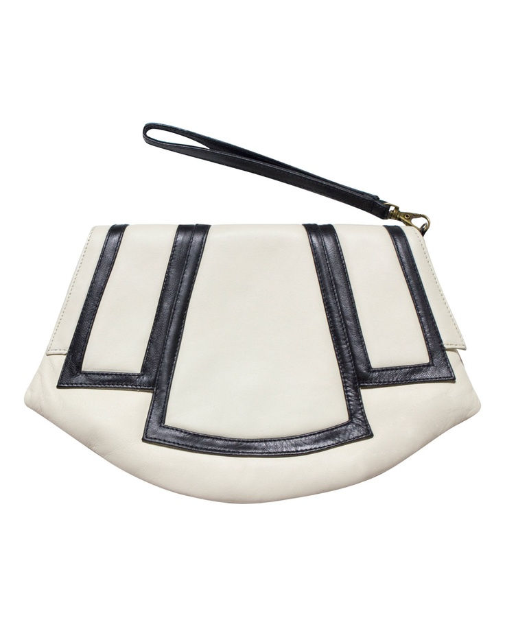 This is unique - I like!   Leather Moss Clutch   #PilgrimSpringRacingCarnival  #MichellesStyleFile