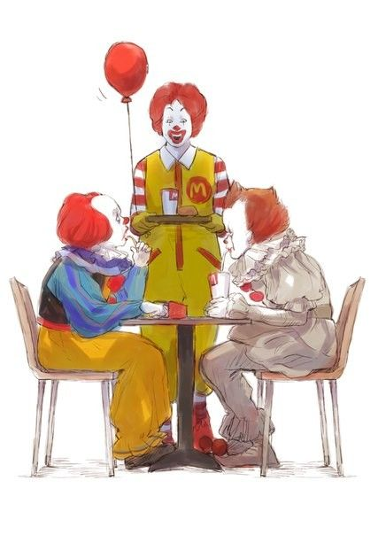 Ronald McDonald's & 2 Pennywises