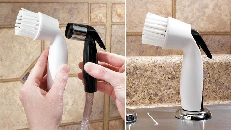Are you dishwasherless and trying to find a way to streamline meal cleanup without resorting to paper plates and disposable cutlery? If so, your search is over. This easy to use kitchen accessory from Jokari snaps over your sink's sprayer, adding a ring of stiff bristles letting you scrub and blast dirty dishes clean. As long as you're not stuck with a hefty utilities bill at the end of the month for excess water usage, the Spray Scrubber is $8 well invested. [Jokari] Jokari Spray Scubber…