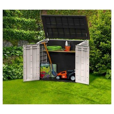 25 best ideas about keter plastic sheds on pinterest - Brown plastic garden sheds ...