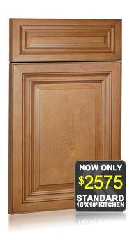 Largo Maple Cinnamon Glaze Discount Kitchen Cabinets
