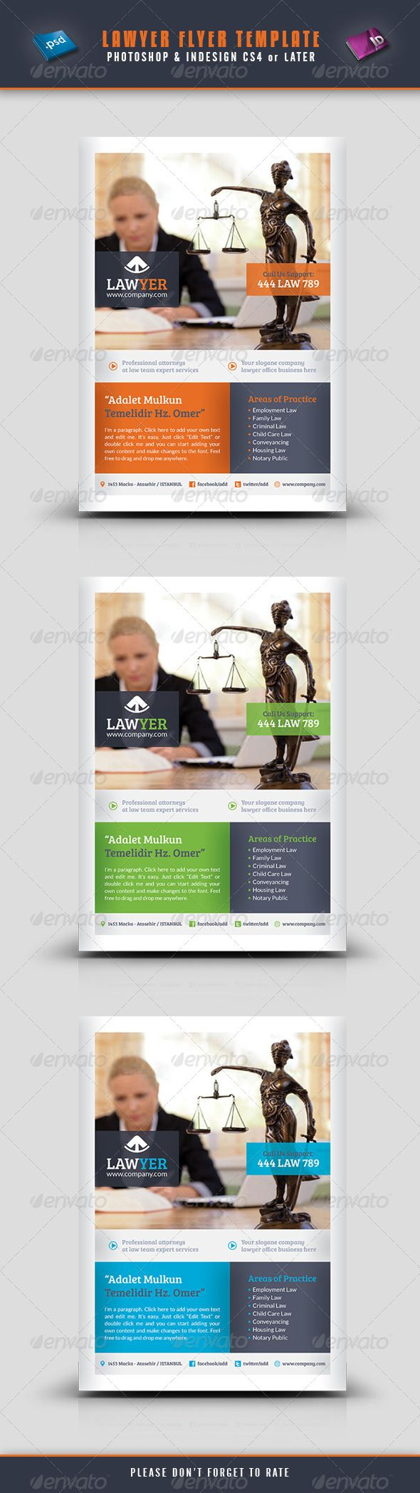 Lawyer Flyer Template  #GraphicRiver        Lawyer Flyer Template  Fully layered INDD   Fully layered PSD   300 Dpi, CMYK   IDML format open Indesign CS4 or later  Completely editable, print ready  Text/Font or Color can be altered as needed  All Image are in vector format, so can customise easily  Photos are not included in the file  Font File: Lato Font:  .fontsquirrel /fonts/lato Bree-serif:  .fontsquirrel /font
