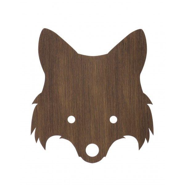 Ferm Børnelampe - Fox lampe i træ