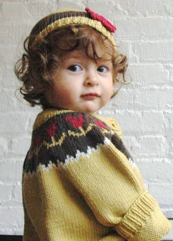 Jennifer Little | Tulip Yoke Baby Cardigan- free pattern