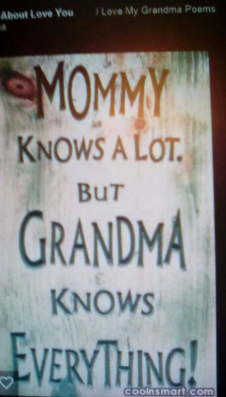 Maw maw this is you!!
