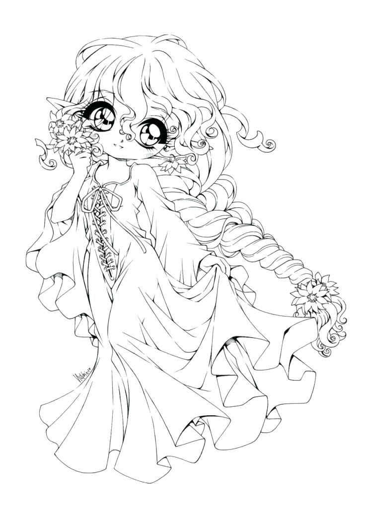 Anime Angel Coloring Pages Cute Cartoon With Inspirations 12 ...