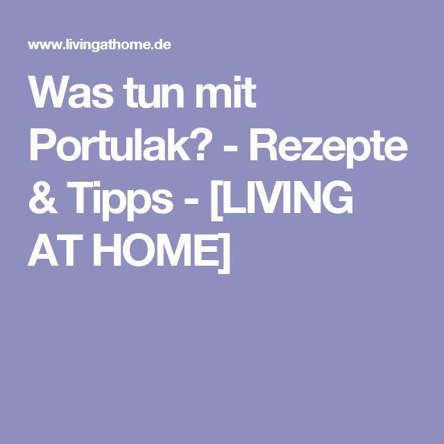 Was tun mit Portulak? - Rezepte & Tipps - [LIVING AT HOME]