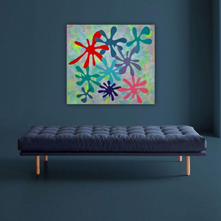 Abstrakt maleri af Rikke Ekelund This acrylic painting is for sale. Virtual setup by ILVA.dk  @rikkethek • 44 Synes godt om
