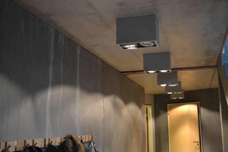 Shop lighting used in my client's entrance..