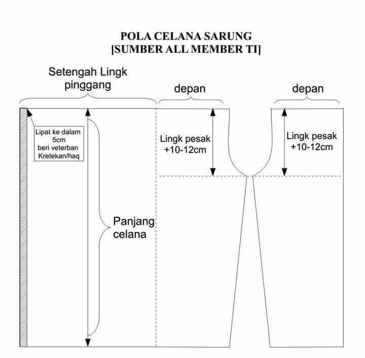 12 best pecah pola celana images on pinterest pants pattern pola celana sarung ccuart Images