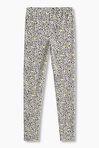 Esprit / Legging met luipaardprint van katoenmix leopard print light grey leopard print cotton mix