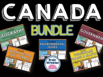 This ZIP file contains all of my Canada resource pack files  Geography of Canada, Environmental Issues of Canada, Where Canadians Live and How They Trade, Canadas Government, Canadas Economic System, Voluntary Trade and NAFTA, History of Canada, and Quebecs Independence Movement.