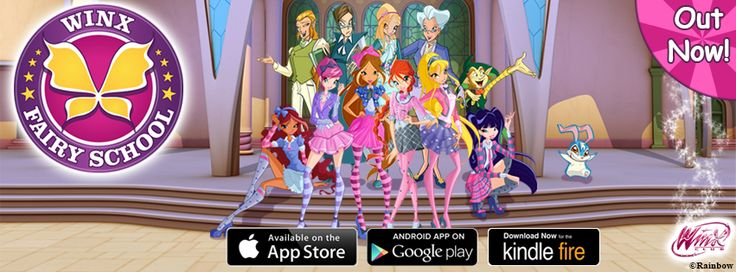 Have you downloaded #WinxFairySchool yet? We are now available on three major app stores: App Store, Google Play and Amazon Kindle. Download today and let us know how much you like it :)